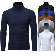 -Men's Winter Warm Cotton High Neck Pullover Jumper Sweater Tops Turtleneck on JD