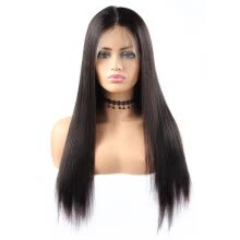 -8A Straight Wigs 360 human hair  Lace Front  wigs 10'-26' Human Hair Wigs Brazilian Hair Pre-plucked  Swiss Lace Cap on JD