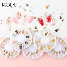 -ROSALIND 1 Box 3D Nail Art Rhinestones Glitters Acrylic Rhinestones for nails Manicure Nail Art Decoration In Wheel on JD