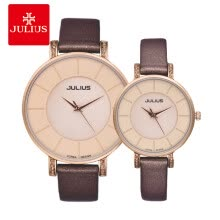 -Korean fashion trend belt female students contracted waterproof large dial couple watches a pair of quartz watches on JD