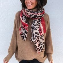 -Hot Womens Long Neck Large Scarf Wrap Shawl Fashion Leopard Chiffon Stole Scarves on JD