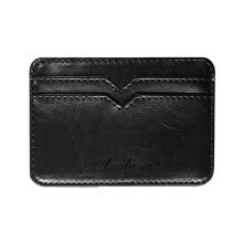 -Tailored Fashion Men's Leather Business Card Holder Bank Card Package Change Wallet on JD