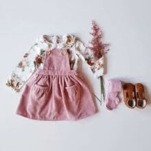 -Princess Toddler Kids Baby Clothes Long Sleeve Flower Tops+Bib Dress Outfits Set on JD