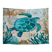 -(Toponeto) Underwater World Printing Woven Fabric Polyester Tapestry Corridor Blanket on JD