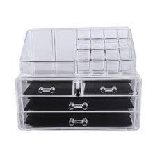 -Multi-check 4 Drawers Acrylic Makeup Case Cosmetics Display Box Organizer on JD