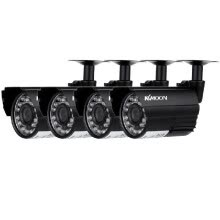 -KKmoon? 4pcs AHD 720P Weatherproof CCTV Cameras Kit IR CUT Color CMOS Home Security System 3.6mm on JD
