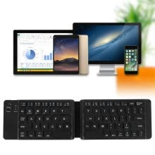 -USB Charging Mini Bluetooth Wireless Folding Keyboard Computer for IPad for Windows Laptop Mechanical Keyboard on JD