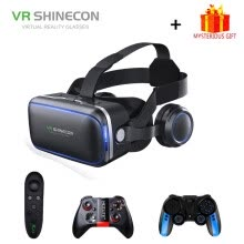 vr-glasses-Shinecon 6.0 Casque VR Virtual Reality Glasses 3 D 3D Goggles Headset Helmet For iPhone Android Smartphone Smart Phone Stereo on JD