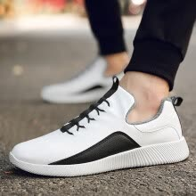 -2019 new summer breathable running men's shoes tide shoes men's sports and leisure canvas summer shoes plus velvet cotton shoes on JD