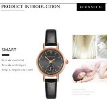 -Gobestart Women Casual Simple Alloy Leather Band Strap Analog Quartz Wrist Watch on JD