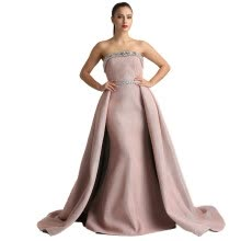 -2018 DuBai Designer Pink Beading Luxury Slim Sexy Mermaid Evening Dresses Vintage High-end Evening Gowns Real Photo on JD