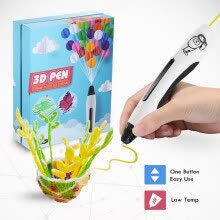 arts-crafts-Ailink 3D Pen, 3D Drawing Printing Pen, One Button Operation, Including 20 PCL Filaments, with Holiday Package on JD