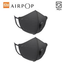 -Xiaomi AirPOP Mouth Face Mask 2pcs/lot Portable Cycling PM2.5 Anti-haze Anti-Dust Foldable Facial Protective Cover Masks for Unise on JD