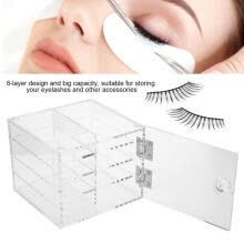 -Greensen 8 Layers False Eyelash Extension Carrying Box Acrylic Storage Box Makeup Cosmetic Case  on JD