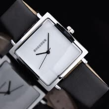 -Woman Exquisite Retro Quartz Watch Simple Square Analog Wrist Watch Lady PU Leather Band Watches on JD