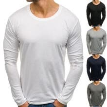 -Fashion Men´s Fashion 5 Colors Men Casual Slim Fit Solid Color T-Shirts Men Long Sleeve O Neck Cotton T-shirts on JD