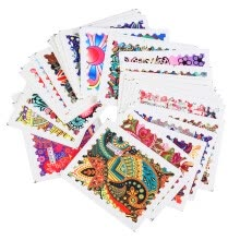 -44 Sheets Nail Art Paper Set Mixed  Fashion Nail Paper Tip Nail Art Styling Set DIY Watermark Manicure Tattoos on JD