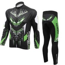 -Cycling Clothing Set Sportswear Bicycle Bike Outdoor Long Sleeve Jersey + Pants Breathable Men on JD