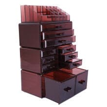 -Large 4 Tier Makeup Cosmetic Lipstick Case Box Storage Organizer Display Brown on JD