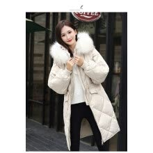 -The 2018 new Korean dongmen down jacket is a long, extra-knee-length, baggy oversize coat for women on JD