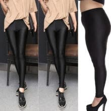 -New Women's Shiny High Waist Stretchy Disco Dance Ladies Leggings Pants M-XXXL on JD