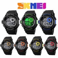 -SKMEI Men's Waterproof Sport Army Alarm Date Analog Digital Black Wrist Watch on JD
