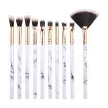 87502-Makeup Brushes Premium Synthetic Foundation Powder Concealers Eye Shadows Makeup Brush Sets 10 Pcs on JD