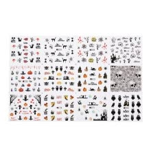 -36sets Halloween Nail Decals Halloween Christmas Stickers Set Nail Art DIY Stickers on JD