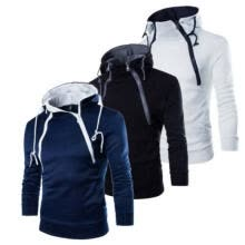 -Men Winter Hoodie Slim Hooded Sport Pullover Hooded Jackets Outwear Size M-3XL on JD