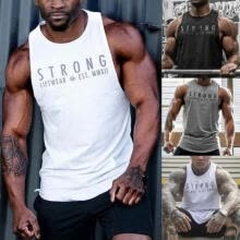 -Fashion Mens Fitness Activewear Tops T-Shirt Bodybuilding Muscle Tee Vests on JD