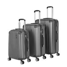 -TOMSHOO Fashion 3PCS Luggage Set Carry-on Suitcase ABS Hard Shell Trolley 20'+24'+28' Combination Lock Universal Wheels on JD