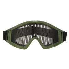 -Adjustable Belt Goggles Lightweight Anti-fog Shock Resistant Eye Protection Metal Mesh Glasses for Airsoft Games Sports on JD