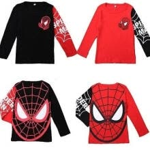 -Kids Baby Boys Toddlers T-shirts Spider Man Cartoon 100%Cotton Tops 2-8Y Clothes on JD