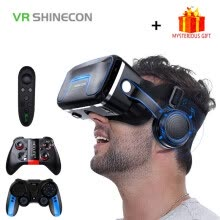 -VR Shinecon 10.0 Helmet 3D Glasses Virtual Reality Casque For iPhone Android Smartphone Smart Phone Goggles Gaming 3 D Lunette on JD