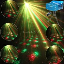 stage-lights-ESHINY Mini R&G Remote 6 Christmas Laser Projector Club Bar Shop Dance Disco Home Party Xmas DJ Stage Effect Light Show R6 on JD