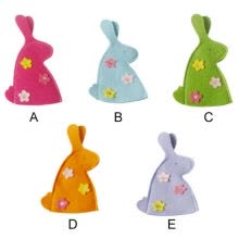 -New Hot arrival Easter Bunny Rabbit Shaped Flowers Egg Covers Lovely Easter Cartoon Portable Gift Egg Bags for home decor on JD