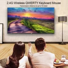 -Mini 2.4GHz Wireless QWERTY Keyboard Air Mouse Touchpad Handheld Remote Control 6 Gxes Gyroscope for PC TV Android TV BOX on JD
