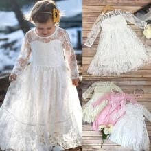 -Toddler Kids Girls Princess Lace Bow Dress Wedding Party Formal Pageant Dress Dresses on JD