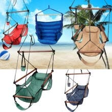 -Outdoor Indoor Hammock Hanging Chair Air Deluxe Swing Chair Solid Wood 250lb US on JD