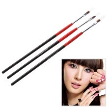 -3x Soft and Professional Pen Nail Art Brushes Tool Set on JD
