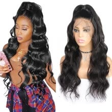 -Body Wave Wigs 360 Lace Frontal wigs 10'-26' Human Hair Wigs Peruvian Hair Pre-plucked Lace Front Wigs Swiss Lace Cap on JD
