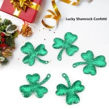 -Greensen Lucky Shamrock Confetti Green Table Confetti for Christmas Party Decoration 300pcs, Green Confetti, Shamrock Confetti on JD