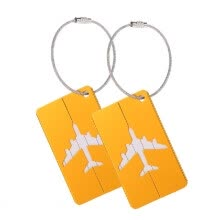 -2pcs Travel Airlines Luggage Tags Suitcase Bag Tag Address Name Identity ID Label Identifier Metal Aluminum Alloy on JD