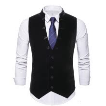 -(Toponeto) Men's Fashion Solid Vest Slim Fit Business Wedding Waistcoat Sleeveless Tank on JD