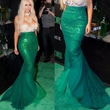 -Sexy Mermaid Ladies Halloween Costume Fancy Party Sequins Maxi Dress Tail Skirt on JD