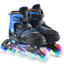 -Adjustable Inline Skates with Illuminating Wheels For Kids Boys Girls Ladies on JD