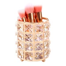 -Europe Metal Makeup Brush Storage Tube Eyebrow Pencil Makeup Organizer Bead Crystal Jewelry Storage Box on JD
