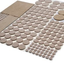 -Leta (LETA) table mat anti-slip mat 193 sets of felt mat furniture table and chair mats mats mute wear-resistant anti-collision particles anti-collision stickers beige LT-PPE585 on JD