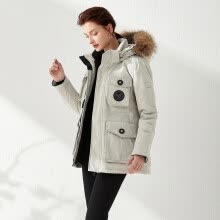 -Women Winter Large Size Long Casual Down Jacket Faux Collar Loose Thick Coat on JD