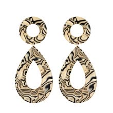 -Leopard Pattern Stylish Simple Magic Trendy Geometric Geometric Studs Earrings Special 4 Studs Drops Water Drops on JD